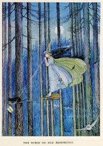 The_Witch_on_Her_Broom_Stick_by_Ida_Rentoul_Outhwaite,_1921