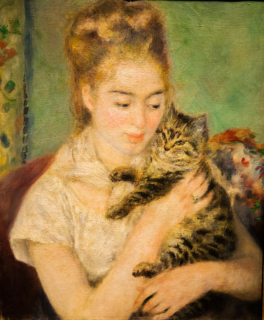 7312716752_066a705819_z   Woman with a Cat by Renoir via flickr