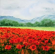 Poppy Field of poppies by Sergei Mikhailovich Prokudin-Gorskii 1912 via wikipedia