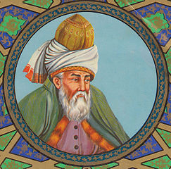 Molana  Rumi by Molavi on wikimedia
