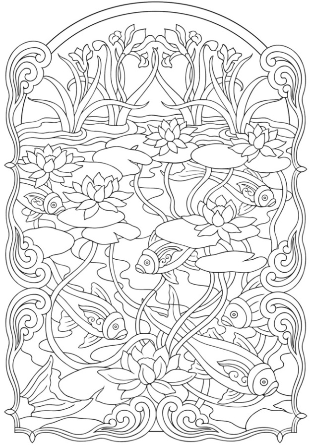 yTkzp5gTE  Art Noveau Coloring Pages