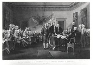 The Declaration of Independence July 4, 1776 by Asher Brown Durand