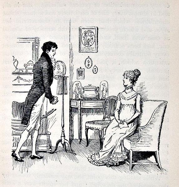 Darcy proposing to Elizabeth