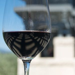 Glass of Napa Valley Red Wine by Ash Berlin