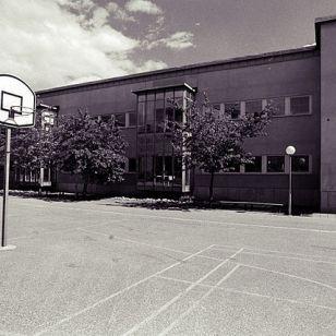 A school yard like this