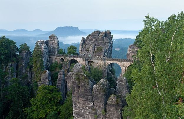 Bastei Bridge by Thomas Wolf