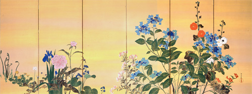 Kamisaka,_Sekka_-_Flowers_of_the_Four_Seasons_1