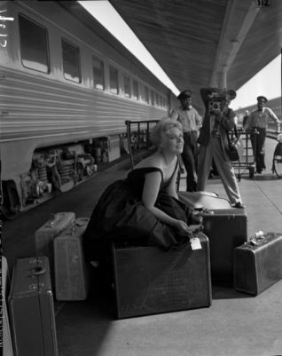 Kim Novak at LA Union Station 1956