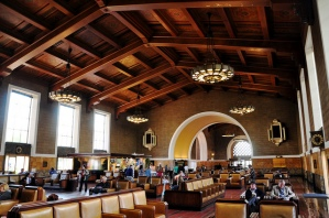 LA Union Station waiting room