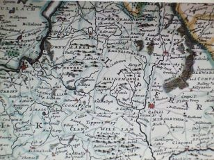Herman Moll's Map of Tipperary 1714 via Wikimedia.org